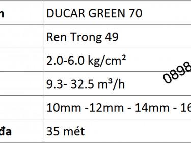 Béc DuCaR Green 70 - Súng tưới bán kính lớn nhập nhẩu Thổ Nhĩ Kỳ