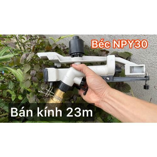 Béc NPY30 - Béc đồng cánh đập tưới phun mưa bán kính tưới 23 mét