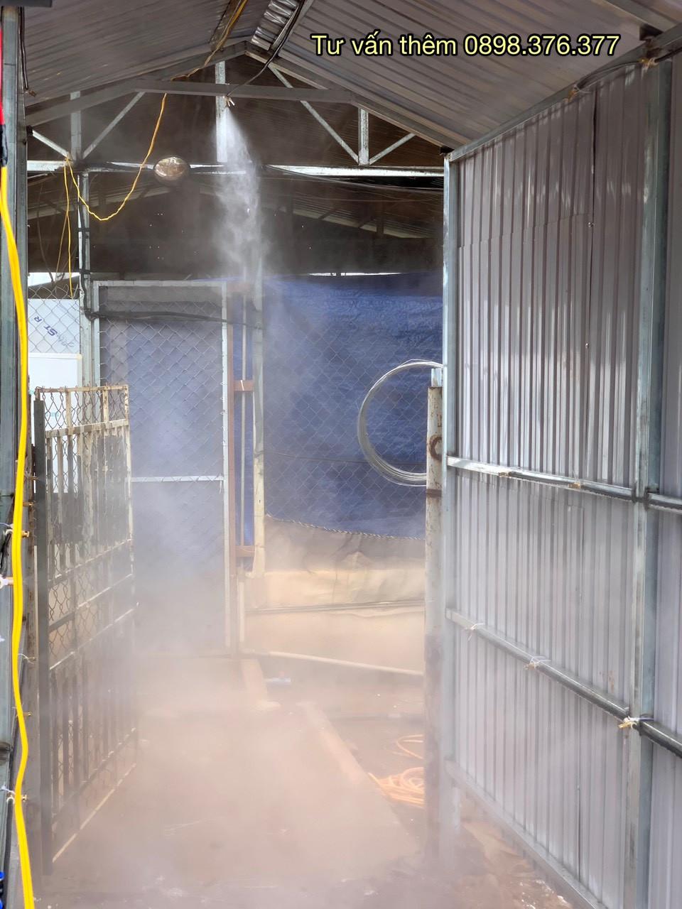 béc phun sương khử trùng sát khuẩn cho trang trại heo