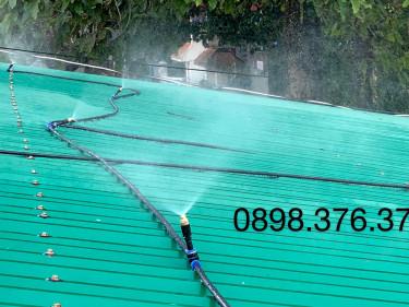 Bộ phun sương làm mát mái tôn diện tích dưới 50 m2