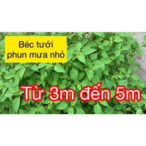Các loại béc tưới phun mưa nhỏ cho vườn rau - bán kính 3 đến 5 mét